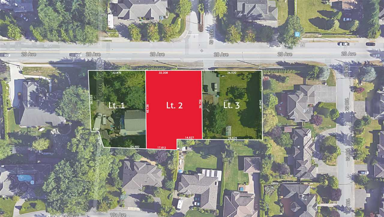 Bell Park - Exceptionally located and rarely available, south facing, 14,850sf, RH-G building lot. Excellent opportunity to build your dream home in one of South Surrey's most sought-after locations. Square, level lot. Approximate lot dimensions: 105'x135'. Proposed subdivision plan supports 2 storey plus in-ground basement home. Two other adjacent 15,000sf lots also available. Subdivision currently in process with PLA in place. Property is centrally located with nearby parks, schools, shops and recreation within walking distance or short drive. (Please do not walk property without permission). Call today for more information!