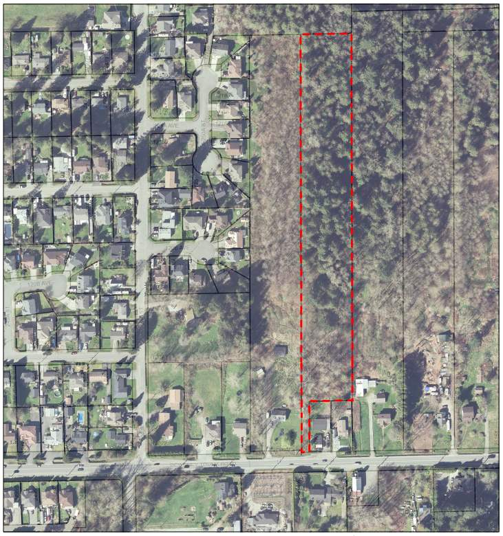 4.5 Acres located near Garibaldi Secondary School and Blue Mountain Elementary School. City water and natural gas nearby. Great building site potential. Transit & parks nearby. Located between 25069 & 25099 Dewdney Trunk Road.