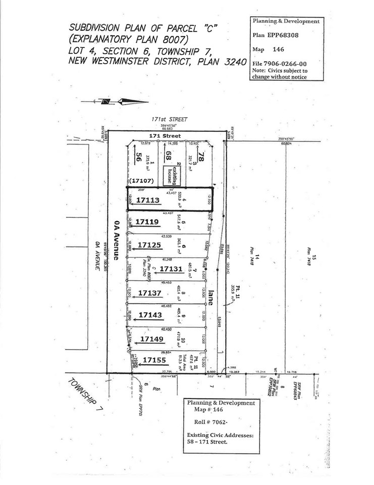 5,606 square foot lot in Summerset Phase IV subdivision in Summerfield residential neighbourhood by Pacific Crossing. Can build up to 3,200 sq. ft. home with detached or attached garage. Close to schools, parks, restaurants and Peace Arch & Pacific Crossing borders. Easy access to highways. Call for more information.