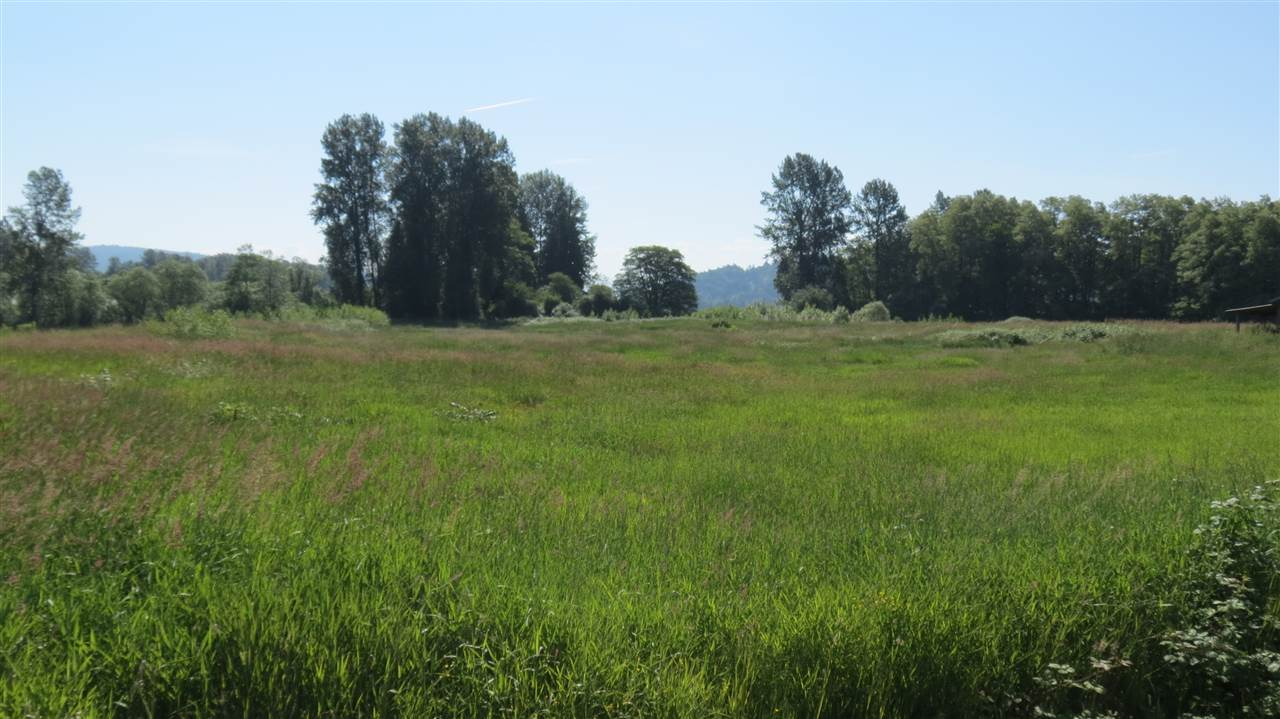 Glen Valley acreage ready for your ideas. Property is zoned A-2 and allowable uses include Agri-Tourism, Farm Retail Sales and Medical Marijuana Production Facility. Nice private setting to build your new home as well. This 17.5 acre parcel is on a quiet section of River Road just across from the Fraser River. Call today to make an appointment to view. Vendor may carry secondary financing O.A.C.