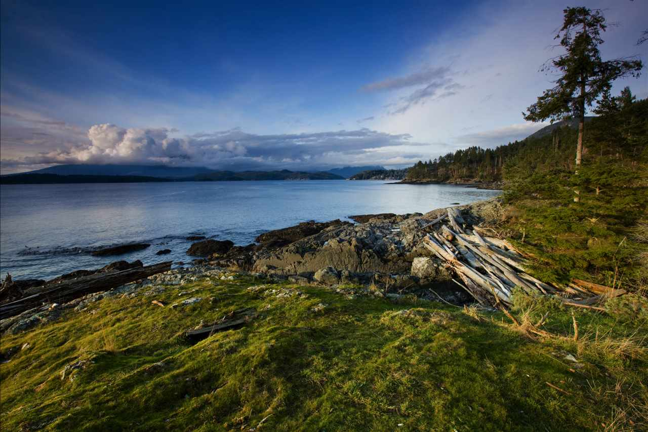 The Cape on Bowen Island is a very rare oceanfront property. This unique private 10 acre waterfront lot hugs 846 square feet of natural shoreline, providing a exceptionally privacy and southwest vantage points to Parsley Island. Approval to have a 16,000 square feet Lot Coverage and multiple buildings. Waterfront affords panoramic 180-degree views. The Best of all, it is only 20 mins sail from West Vancouver. Golf course, shopping, stored, and Bowen Island Community School within a 10 min drive. Access by ferry (runs every hour), private boat, water taxi. This picturesque lot can be a legacy to future generations.