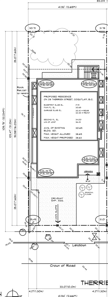 BUILDER AND INVESTOR ALERT! Fully serviced 41x105 lot in RT-1 Zoning. All Plans & Permits Available. Ready to build. 3 storey house with Secondary Suite has already been approved by city. Close to shopping, dining, schools, transit and access to Lougheed Hwy and Highway 1. Buyer to verify all information if deemed important.