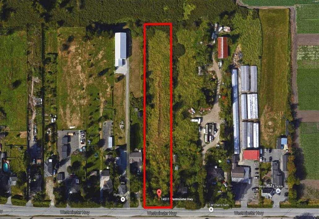 RARE OPPORTUNITY, EXCELLENT FOR INVESTOR. LAND ONLY-PRIME 2.039 ACRE PARCEL OF LAND IN A CONVENIENT LOCATION WITH EASY ACCESS TO ALL HIGHWAYS: 99, 91 AND KNIGHT STREET BRIDGE. 132' WIDE BY 673' DEEP==88,836 SQUARE FEET ZONED AG I. BUILD YOUR DREAM HOUSE UP TO 20,000sq.ft., B&B, CLUBHOUSE OR READY FOR YOUR IDEAS. GOLF COURSE AT THE BACK.