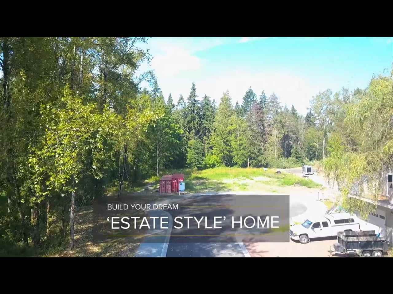 Brand new fully subdivided lot in desirable Salmon River, ready for your dream estate style home. Extremely convenient location just mins to 232nd and #1 freeway. Protected by trees to the north, forest/TWU land to the west and ALR to the south, you will find a 1.73 acre site ready for your ideas. The culdsac will be shared by two other homes and is located at the end of a dead end street. Plans have been drafted for a possible 6500sqft home with room for a detached shop.