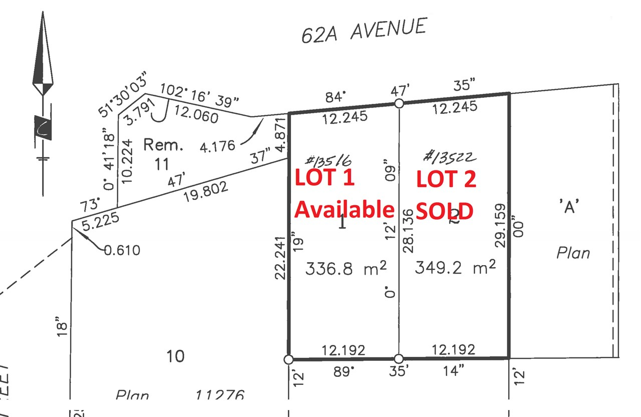 LOT #2 .......Fully serviced Lot with **No trees** in a prime location to built three level house. 2 LOT SUBDIVISION. Lots will be ready to build in Nov 2017. RF 12 ZONING. All amenities nearby from shopping, banking, recreation, dining and Restaurants. School catchments are North Ridge Elementary School and Panorama Ridge Secondary School.
