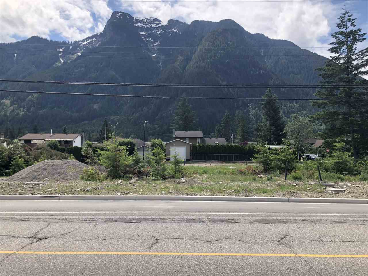 Fantastic location. Fully serviced freehold lot. Walk to town, lake, rivers, and trails. Tremendous mountain views surround. Rare to find a non-strata lot in Hope- hurry! Can built to suit
