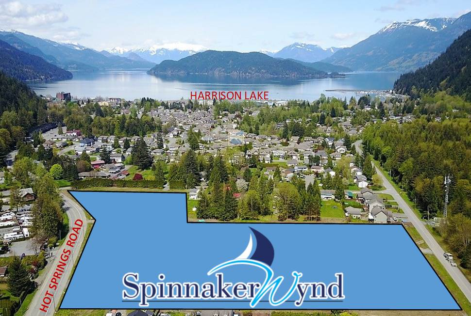 SPINNAKER WYND Harrison Hot Springs new development! Frist phase consists of 35 single family lots. Fully services, great location, walking distance to the lake. Once in a lifetime opportunity to own in a new development close to Harrison Lake. Comprehensive development includes single family homes, attached homes and townhomes in future phases.