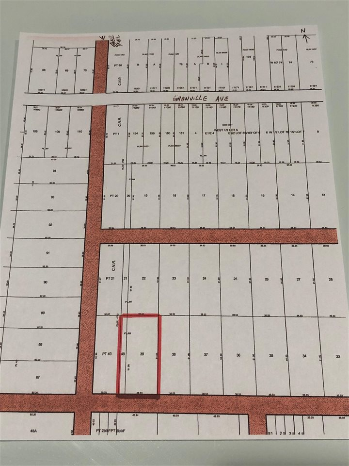 """Price is for selling 25% interest of 2 lots"". Total area of 2 lots are 45 ,532 sq. ft. ( 1.045 acre). Between Granville Ave. and Blundell Road. 984 feet (300 meter) South of Granville Ave. Adjacent to CN Railway & Shell Road Trial. No access road. Lots are classified as agricultural land less than 2 acres. It is good for holding and for assemble of land for future development. Seller's portion of 2018 property tax is 25% of $918.50 = $229.63."