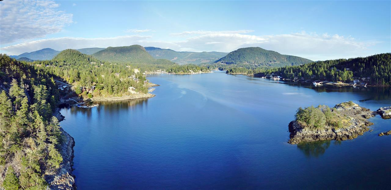 Exclusive Waterfront Estate Sized 1.9 acre Parcel in the Pender Harbour Landing Development.Freehold Ownership means NO STRATA FEES. Desireable South to South East Exposure. Services underground to the lot boundary.