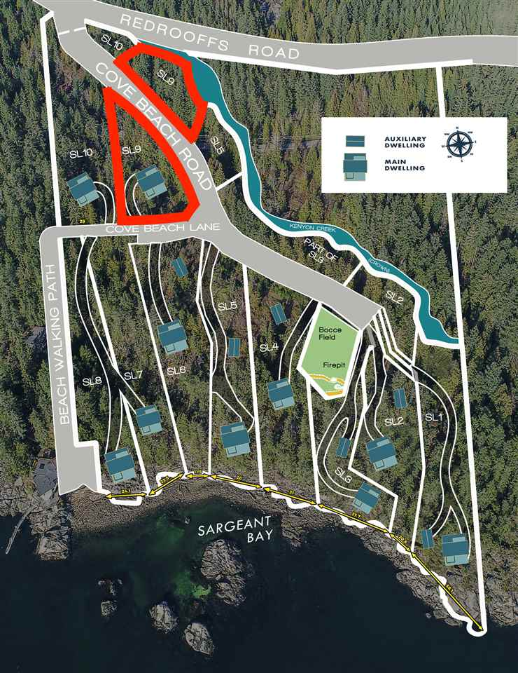 Cove Beach waterfront lots are moments from Sechlt, South-facing, and ready to build. Roughed-in driveways and the rest according to your desire. These are the last waterfront lots on the Sunshine Coast. Pristine land for an oceanside lifestyle and a perfect getaway home. With this lot, owner has the right, based on zoning, to build a second home. This development is a bare land strata with its own sewage system and private gated road access.
