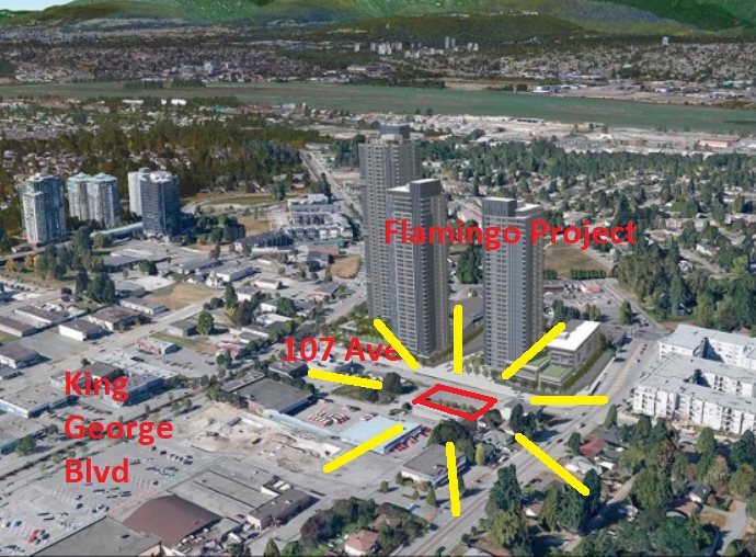 Investors ALERT! Central location in Surrey! Commercial C-8 zoned property with future low-high potential. Strategically located by the RCMP District 1 City Centre, Canada post. Buyer to confirm with city regarding potential use. Adjacent property on sellL C8024597