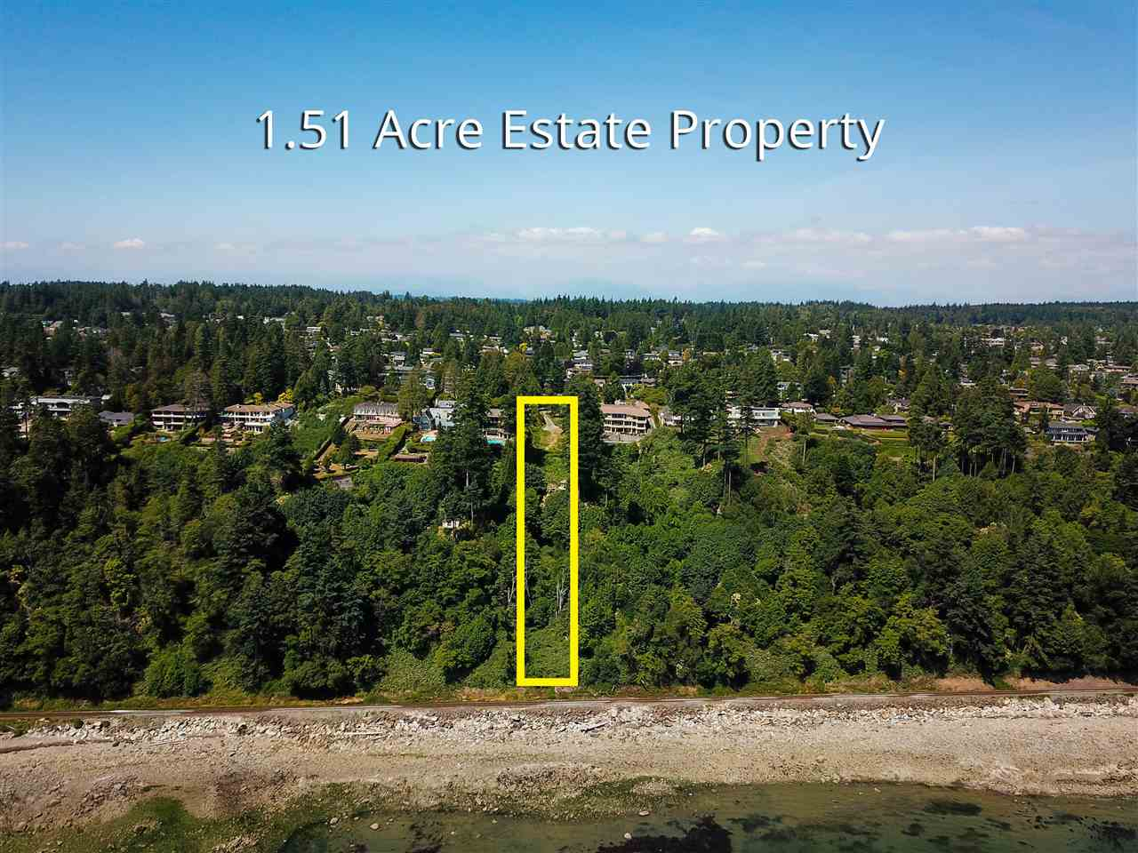 Truly one of a kind! Just over 1.5 AC located on the South side of Marine Dr. w/a panoramic breathtaking ocean view. Fabulous opportunity to build your dream home on this 65775 SF Estate Building Lot with incredible privacy and sensational full view of Pacific Ocean, Islands, Mount Baker and glorious sunsets. One of the finest waterfront ESTATE properties in White Rock.