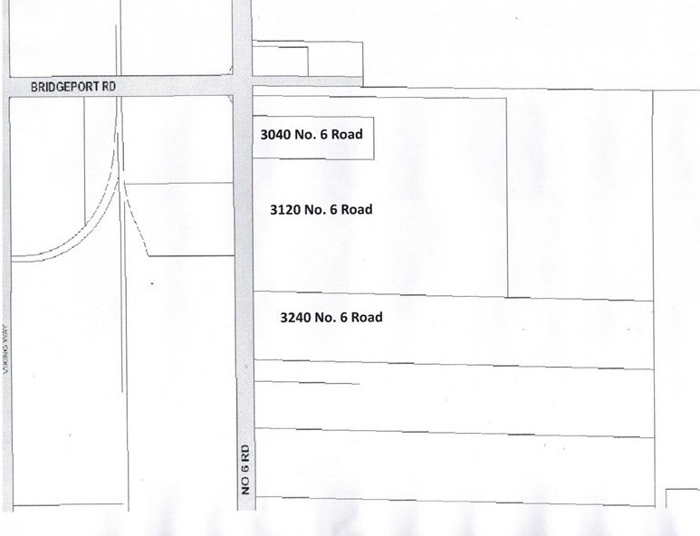 23.8 acres of ALR land in Central Richmond?. 3 legal titles of ?1.6, 8.53 and 13.69 acres,  each property is improved with one older single? family dwelling. Seller will consider selling separately for an adjusted price.