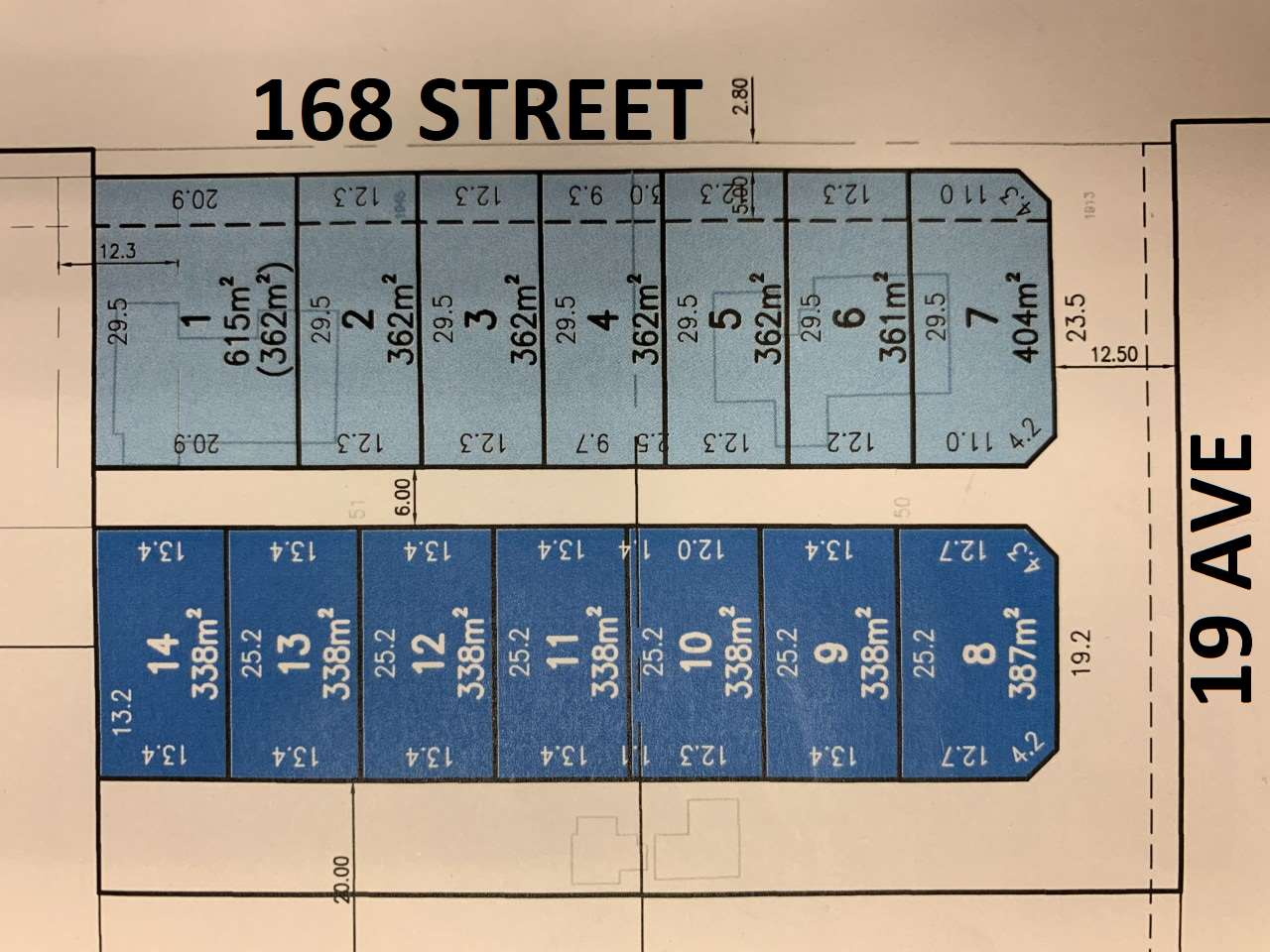SUNNYSIDE HEIGHTS - An opportunity to purchase an RF-13 (type 1) building lot in the Sunnyside Heights neighbourhood. This P.L.A. approved, 13 lot subdivision offers builders the time to design their home and submit to the City before proceeding with your build. Lots 1-7 are rear load (lane access driveway) with a boulevard set-back off 168th Street and are walking distance to a new elementary school and near-by access to shopping, restaurants and recreation. Call for more information.