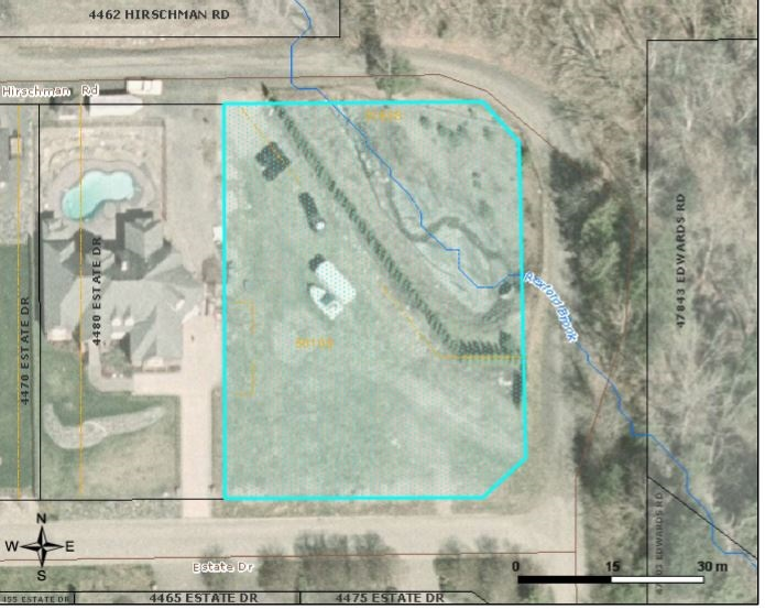 Large over 3\4 acre bare lot, the last lot in a prime neighbourhood of all executive homes. Complete plans for a 4770 sf designer custom home, and shop, are available with lot purchase. Room for Triple garage and a pool! Double road access allows for front, side and back of property access. All utilities are availabel at lot line. Secenically located backing on forested lands! Close to shopping, amenities, Cultus Lake & Rotary Trad & so much more! Enjoy the peace & serenity that this awesome location has to offer!