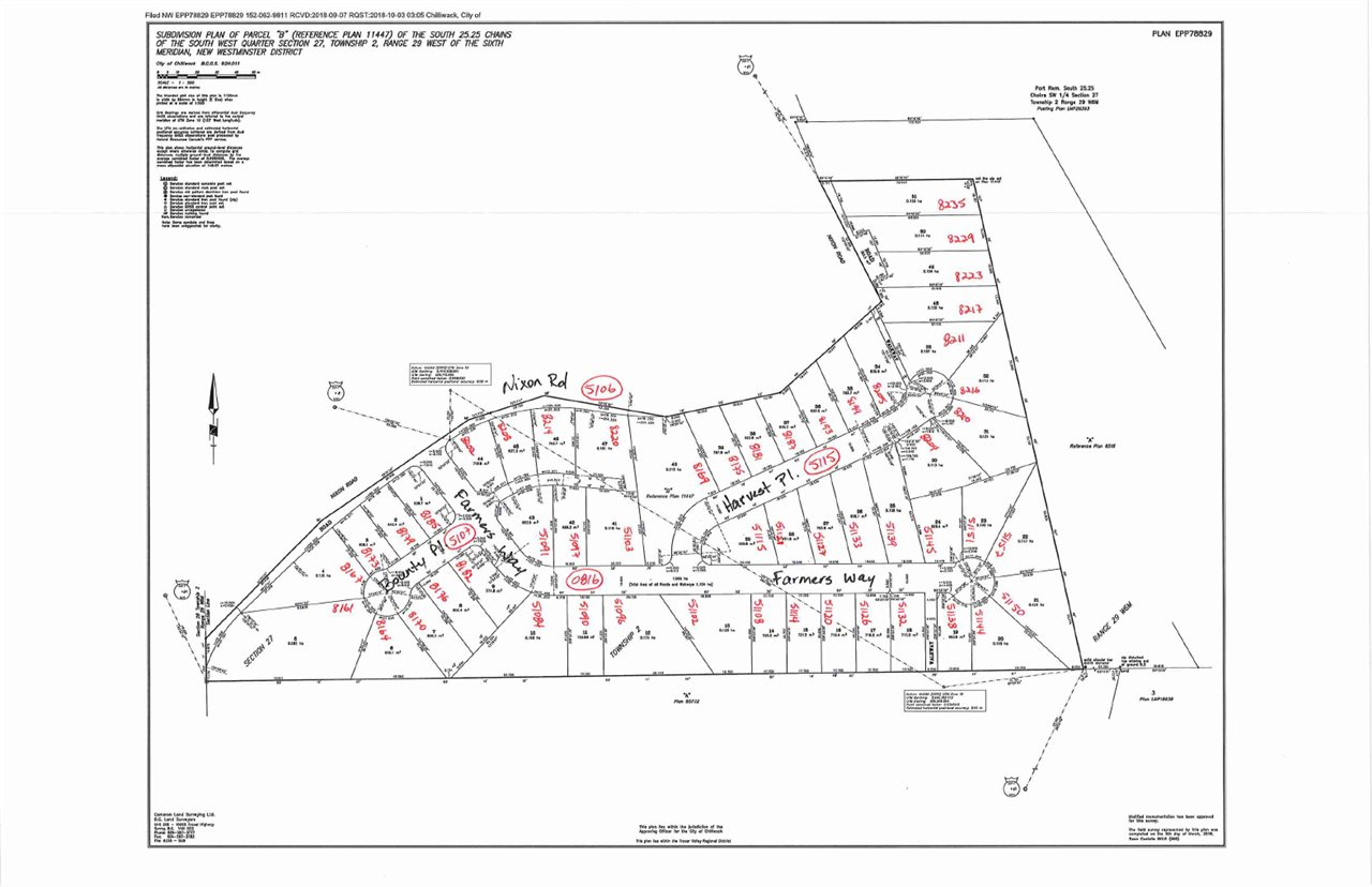 Outstanding view lot in Chilliwack's finest fee simple sub-division. Views of golf course valley and mountains. Walk across the street to the Falls golf course or enjoy some of the best walking and cross country skiing in the lower mainland. No strata fees.
