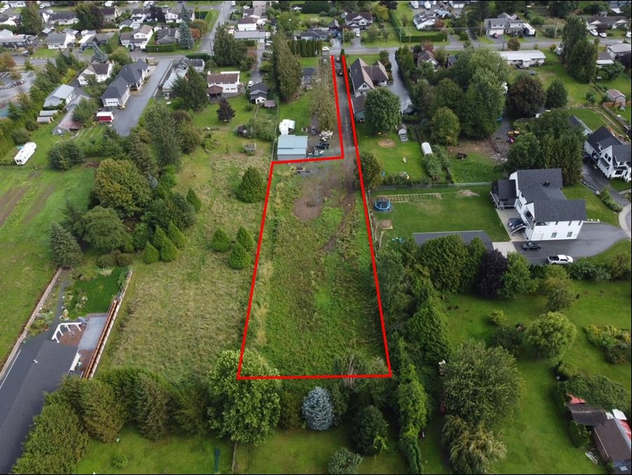 An incredible and rare opportunity to build your dream home and shop and on this level 0.80 of an acre lot in the charming village of Yarrow. Newly created pan handle lot offers amazing views & tons of privacy, steps from the Yarrow School and the Vedder Trail. If a rural setting near all amenities is important, yet minutes from Abbotsford, Chilliwack, Sardis & Cultus Lake, this is the rare find you have been looking for.