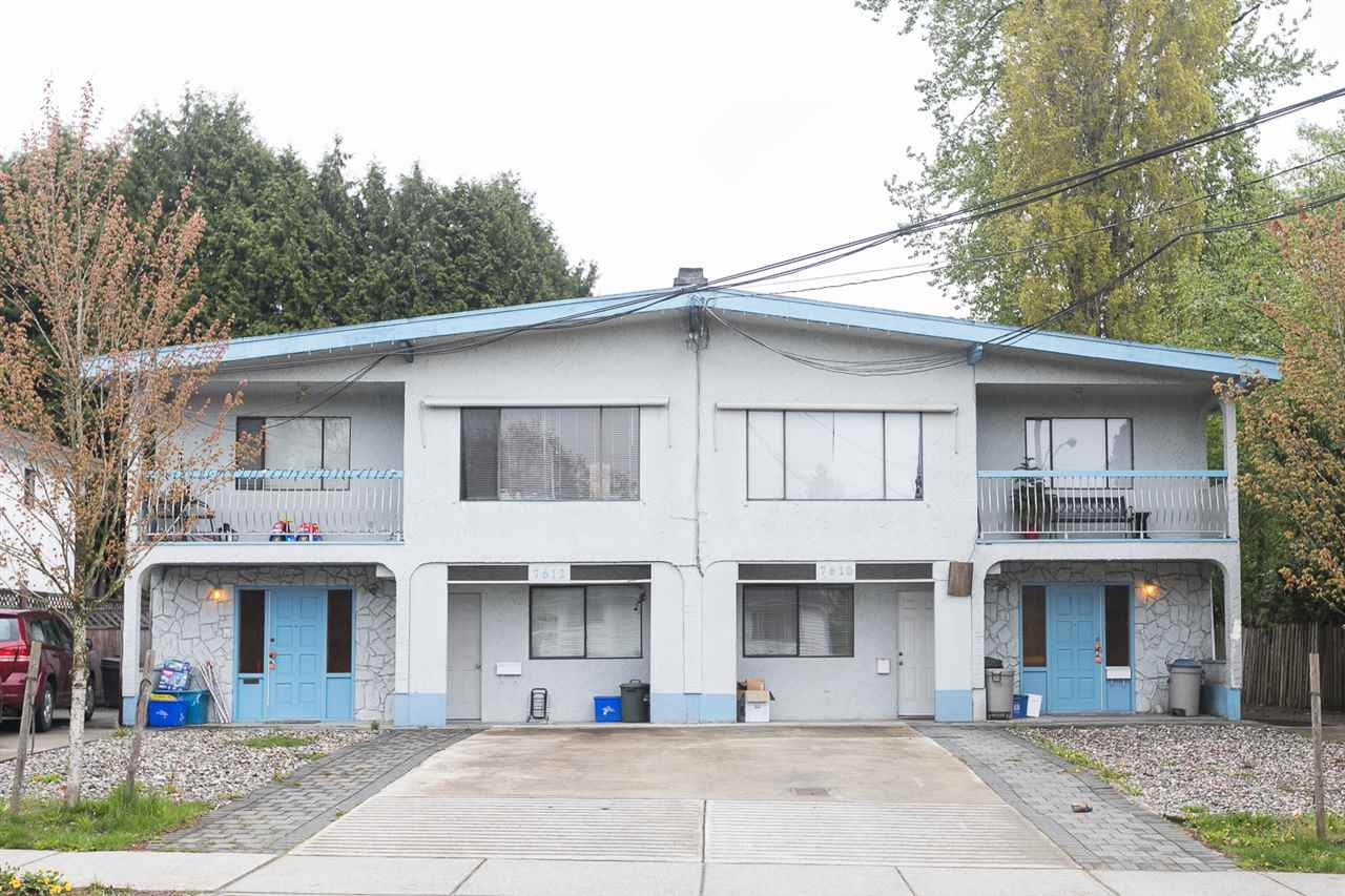 INVERSTORS take note large DUPLEX (7610 & 7612 115th for sale) sitting on a large lot just over 14,000sqft in Scottsdale area of North Delta. Updates and features include newer roof (2010), furnace (2016), updated electrical, perimeter drainage, 2 wood burning fireplaces, in suite laundry, fenced yard. Close to all levels of schools, recreation centers, library, shopping and transit.