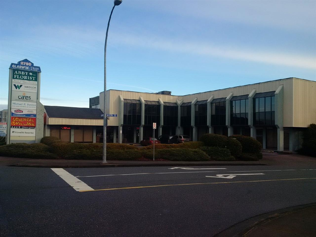 Located off South Fraser Way this office building has space available from 860 sq.ft. to +/- 8000. Spaces available on ground floor and second floor. Located in Central Abbotsford, close to the intersection of South Fraser Way and Gladwin Road. Has underground parking and is walking distance to restaurants and malls.