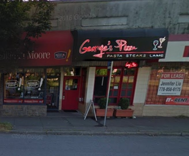 """Located in one of the most prestigious and popular """"Kerrisdale"""" area, this fully licenced eat in/take out  """"George's Pizza"""" has hundreds of satisfied customers over the years. 40 seats, 900 sqft, rear parking. Excellent income & staff. Excellent business opportunity to grow. No walk-ins, strictly by Appointment only. Call for more information."""