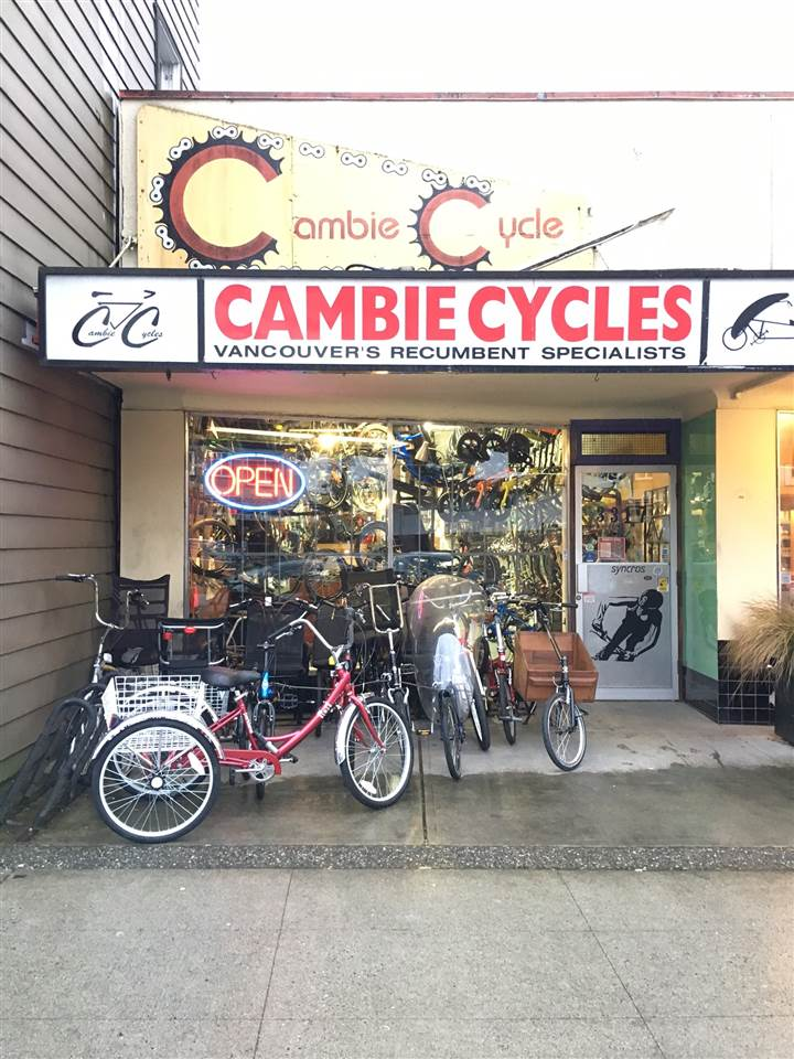 Well established bicycle business specializing in sales, service, parts, recumbent & city bikes located in great neighbourhood with high foot traffic in Cambie Village in Vancouver. The original owner has operated this business for the last 32 years and he is ready to retire. Selling price includes the inventory valued at $120,000 plus equipment, tools and goodwill. The monthly rent is around $4,000 for 1,000 sq ft on main floor and 1,000 sq ft on the basement.