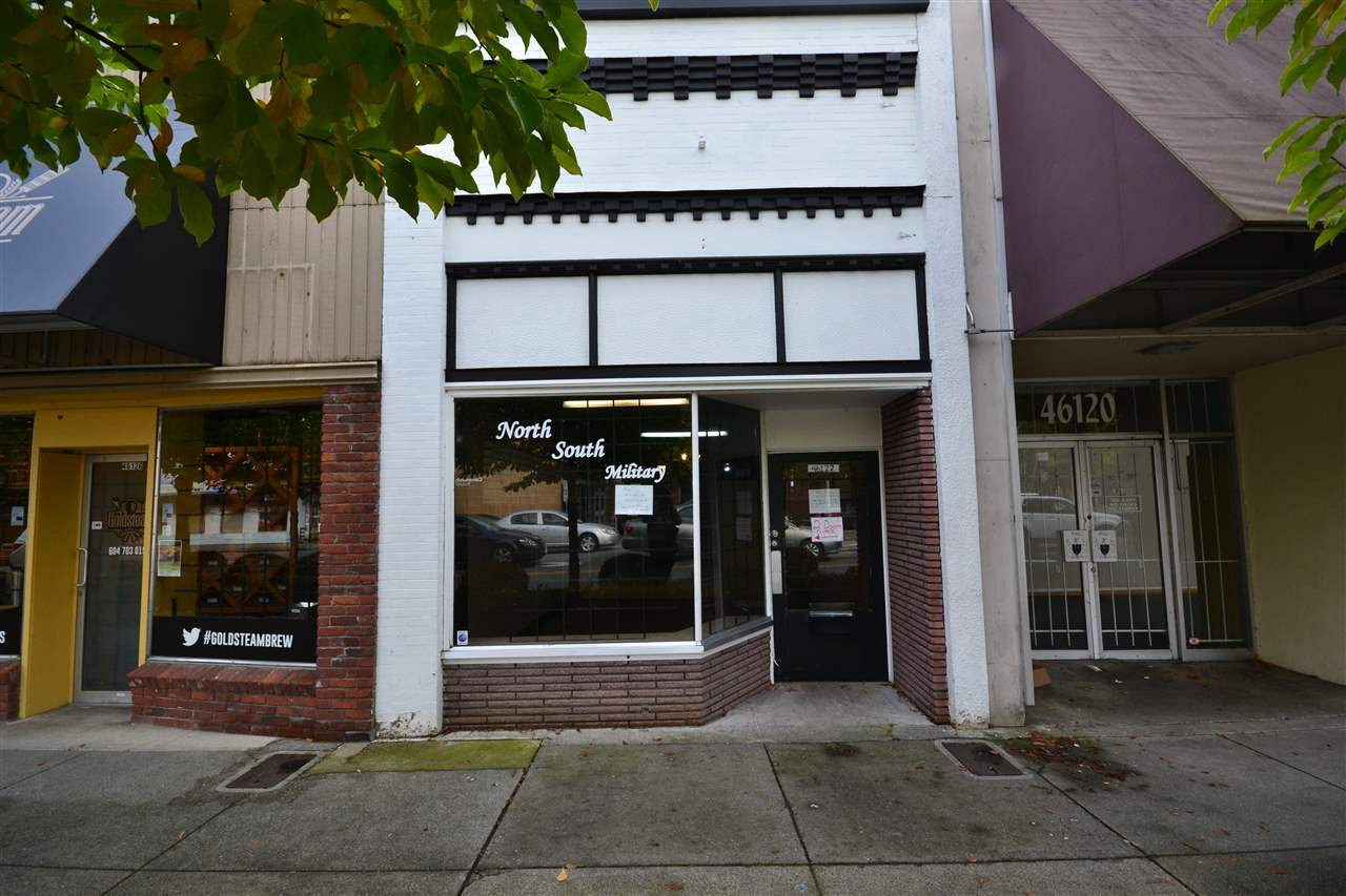 Excellent location in downtown Chilliwack for your business! 727 sq. ft. street retail, near all amenities with a very high traffic count.