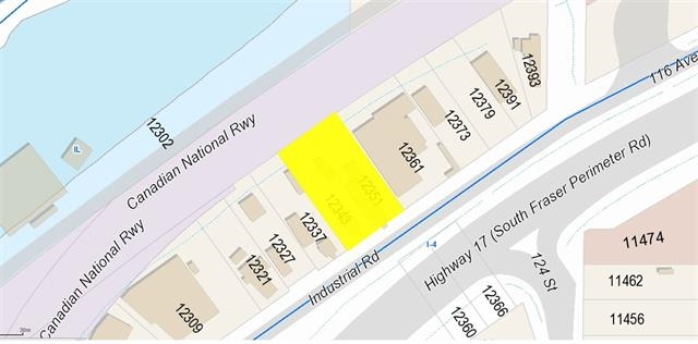 Light Impact Industrial Zone. Land can be sold with 12343 Industrial Rd (12,327 sqft) Total 24670 sq.ft.