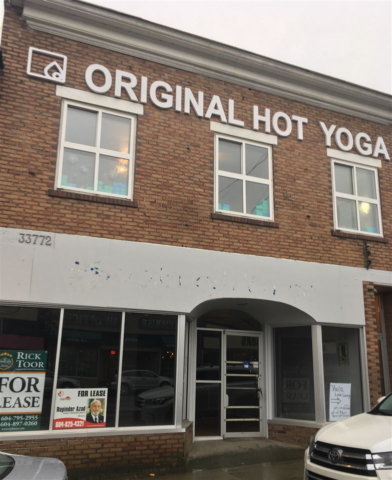 Nicely updated, clean space for Lease in the down-town area of Abbotsford. Approximately 2400 sq.ft. main floor, one level Store Front. Will suit any professional retail business or offices. Reasonable rent with low triple net charges. Space available as of Oct. 1st. For viewings/ Showings call for appointment.
