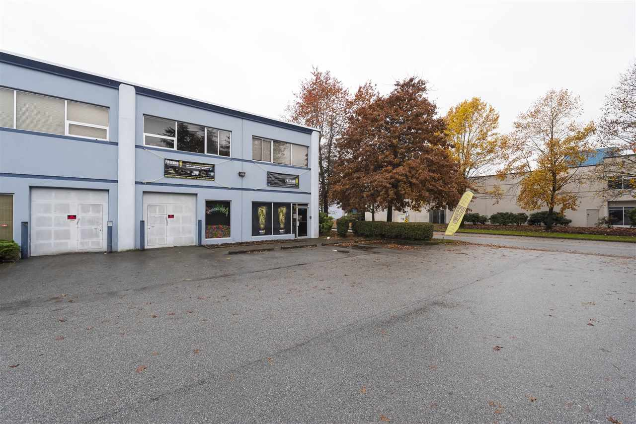 End unit warehouse in prime Ironwood location! 2,700+ sq.ft total with front loading roll-up door. 3 dedicated sparking spaces with additional front parking available. Easy access for large trucks. Currently tenanted and configured as escape room reality game but will be restored back to original warehouse and some upgrades will remain upon possession. Finished boardroom upstairs plus 2 bathrooms (1 downstairs (handicap), 1 up). Inquire for more details. Tenant to leave or or before Feb 2018.