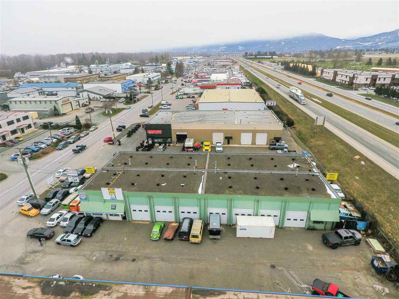 Rare offering! Detached stand alone industrial building offering 10,660 sq.ft! Large half acre lot with outstanding highway exposure and proximity to downtown Chilliwack. Currently separated into 4 warehouse spaces (non-strata) of almost 2,700 sq.ft each. 4 Long term tenants on month-to-month tenancies. Loads of upside here! Contact for more details.