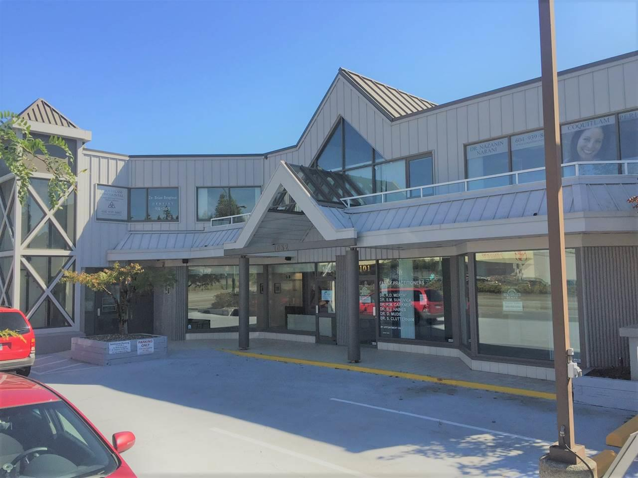 Wow, Central Coquitlam location on Austin Avenue. Great opportunity to run or start your business. The office.Retail portion is on the main floor of a two storey building. There are multiple surrounding amenities, including Restaurants, shopping centres. Thus unit contains few private offices, bathrooms, a reception area, and an open office area. Recently renovated office with fresh paint, new decoration and new flooring. Perfect for Business like acupuncture, acupressure, audiologist, consulting patient, hypnos therapist, naturopath, makeup beauty, speech therapist.