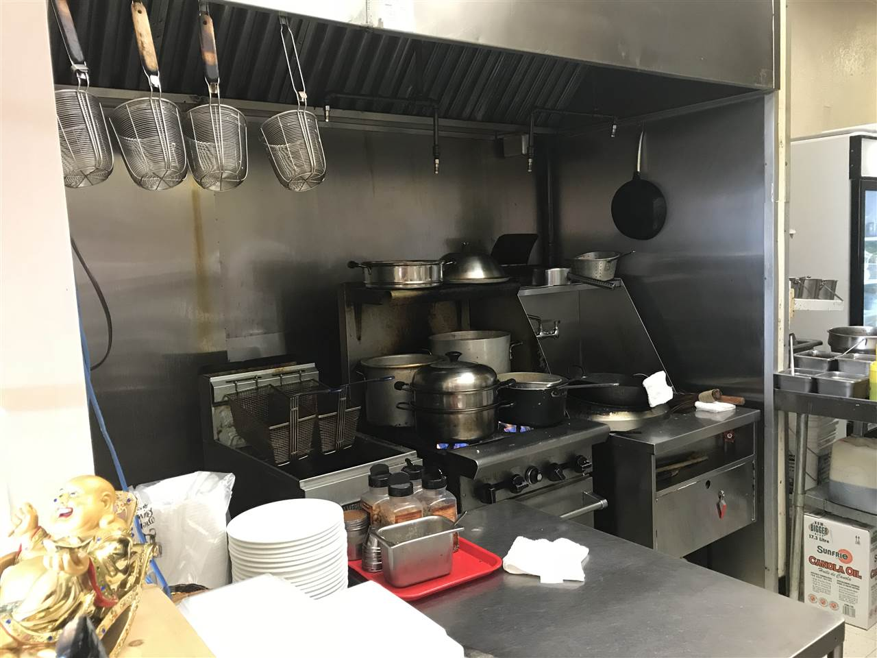FANTASTIC OPPORTUNITY: Established Chinese Restaurant business for sale in wonderful Stevenston Village Location. 1000sq 36 seats, authentic Chinese food and westernized  Chinese food with loyal customer base and take out business. Very low over head costs + great lease & quality equipment. Currently open from 11am-9pm Tuesday off, lots of potential for lunch hours.