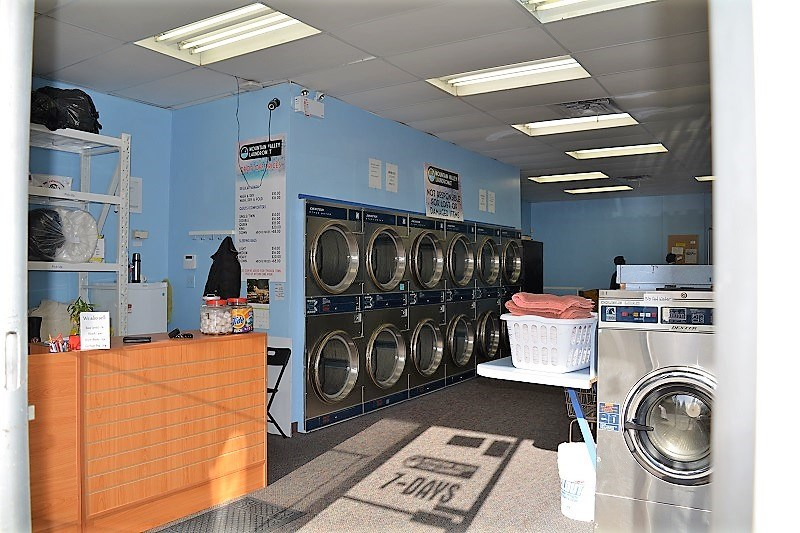 MOUNTAIN VALLEY LAUNDROMAT - Lynn Valley, North Vancouver. Well established Coin Laundry. Retail space 1072 sf. Rent $3,740 all included GST and NNN. All Dextor Dryers, reasonable rent, easy to operate, lots of parking space. Turnkey operation with profit. No competition nearby w/ steady income. Please do not disturb staff. Call LS for more info.