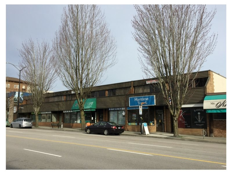 Rare opportunity to purchase 132 ft of Hastings St frontage in desirable Burnaby Heights (between Willingdon & Rosser). This 14,179 sf property has good holding income, and is zoned C8A, which allows a max FAR of 3.0. Build ground floor retail with 3-4 stories of residential above. Current building is 8,900 sf mix of offices and retail. Annual Net Operating Income over $131,000 with good tenant mix and room for future rent increases. Contact the Listing Agent for more information