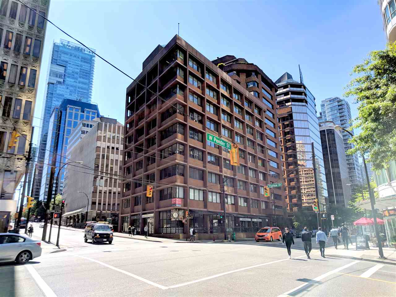 Klein Group presents the ideal short term office sub-lease opportunity in the midst of the downtown  business district. This north facing unit offers 884 SF on the 6th floor and provides t offices, reception space, private space, and elevator exposure. 1112 W Pender is a 9 storey office building on the corner of Thurlow and W Pender with a newly renovated lobby and common area, 24 hr access and security, located a few minutes away from Burrard Skytrain Station. Other tenants include PainPro Therapeutics, Fusion Communications, DNV Canada, Reel-One Pictures and International Ship- Owners Alliance. The current lease term expires May 8th 2019 and provides a 3 yr option to renew subject to the landlord's approval.