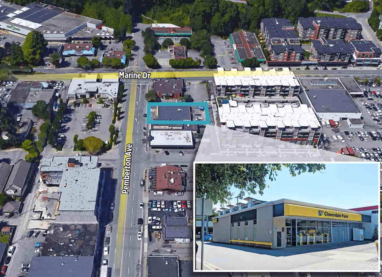 An exceptionally well maintained and operated free standing building on Pemberton Avenue in North Vancouver. 7920+/- square foot property on the East side of Pemberton Ave, just south of Marine Drive. OCP: CRMU1, zoning C-9, new 5 year lease in place with Cloverdale Paint. No renewal option. Call or email for more details.
