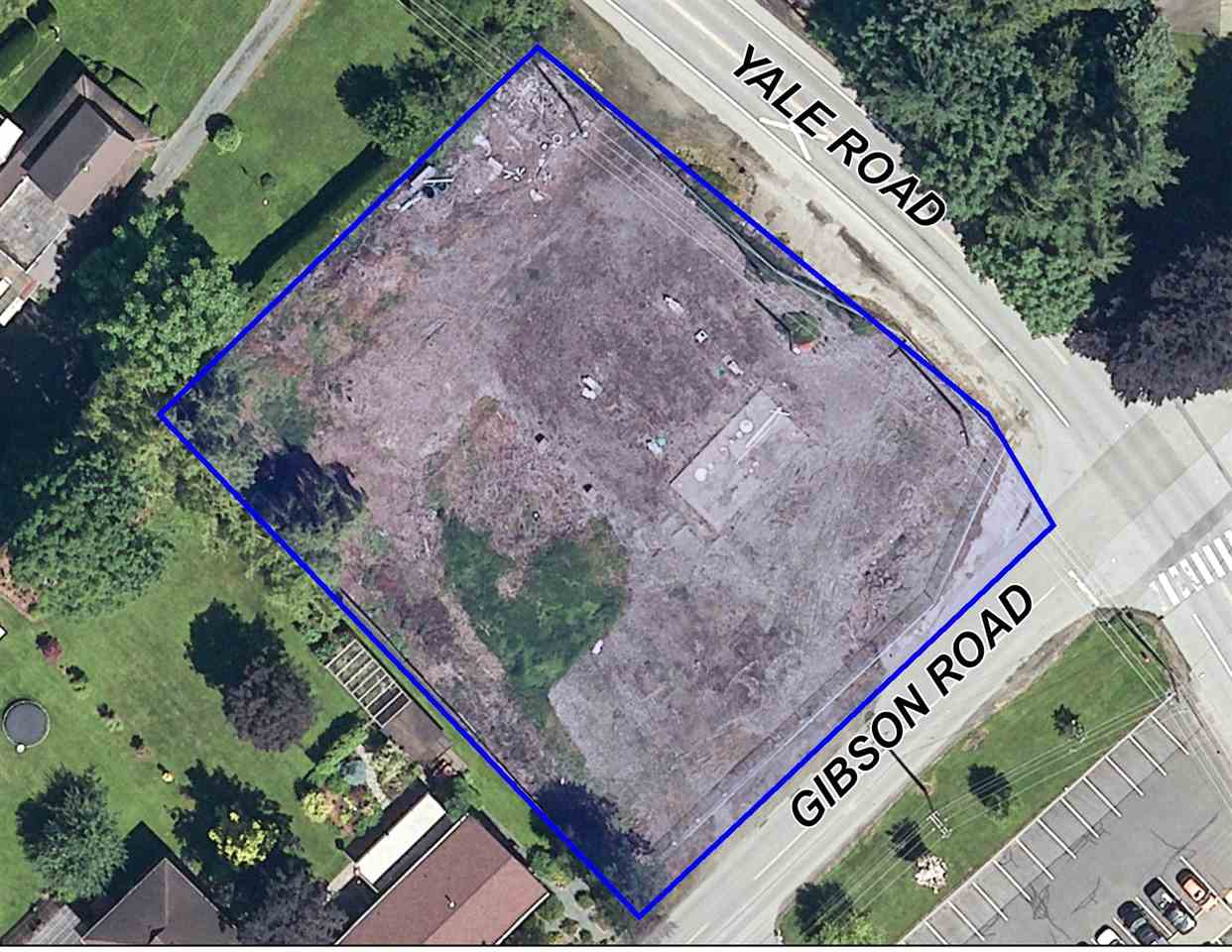 Bare 0.84 acre C52 zoned lot on a busy street with a 2017 Yale Rd. daily traffic court of 5757. Was approved in the past for a gas station with a Tim Hortons & a residence above. Previously an Esso gas station. Bring your ideas to this commercially zoned property.