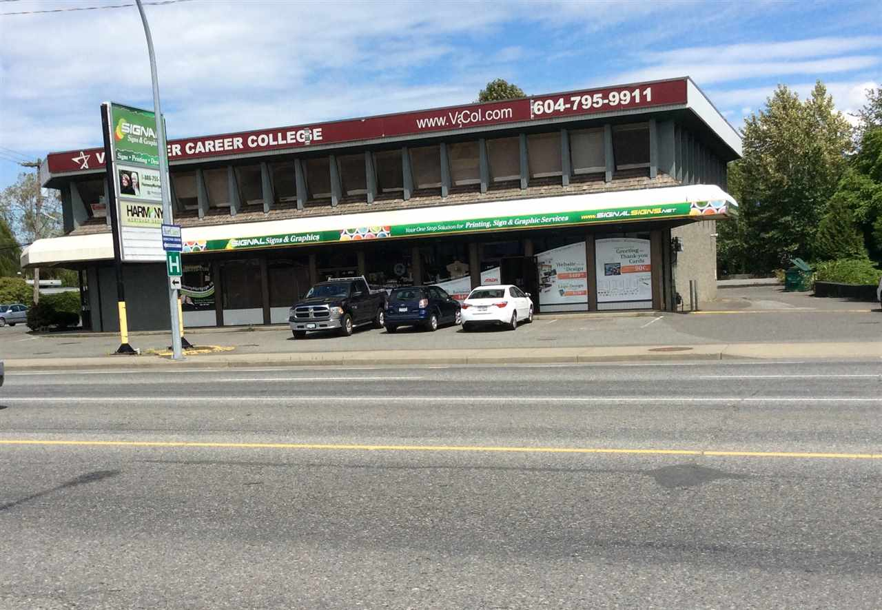 Comer unit on the ground floor of this building located on the comer of Young Rd. and Airport Rd, with 1174 Sq. Ft. available to lease. Vancouver Career College and a retail store occupies the building as well. Plenty of parking. Close to all amenities and Highway 1.
