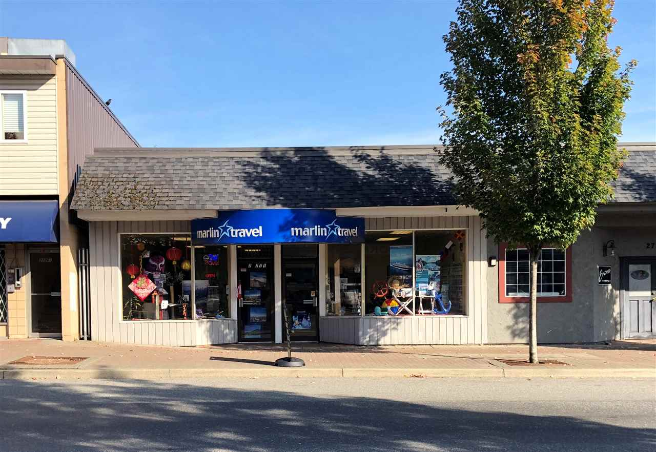 1,160 Sq Ft of Retail space available for Lease located on busy Fraser Highway in the core of Aldergrove. C2 Zoning allows for accessory building and uses, assembly uses, group children's day care. Currently being used as a travel agency. Bring your ideas!