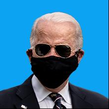 President Joe Biden wearing a face mask