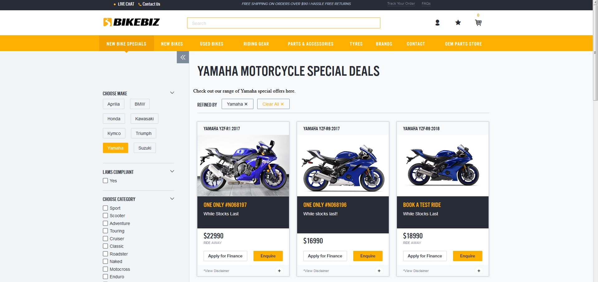 Emberjs implemented for Special Deals Bikebiz section