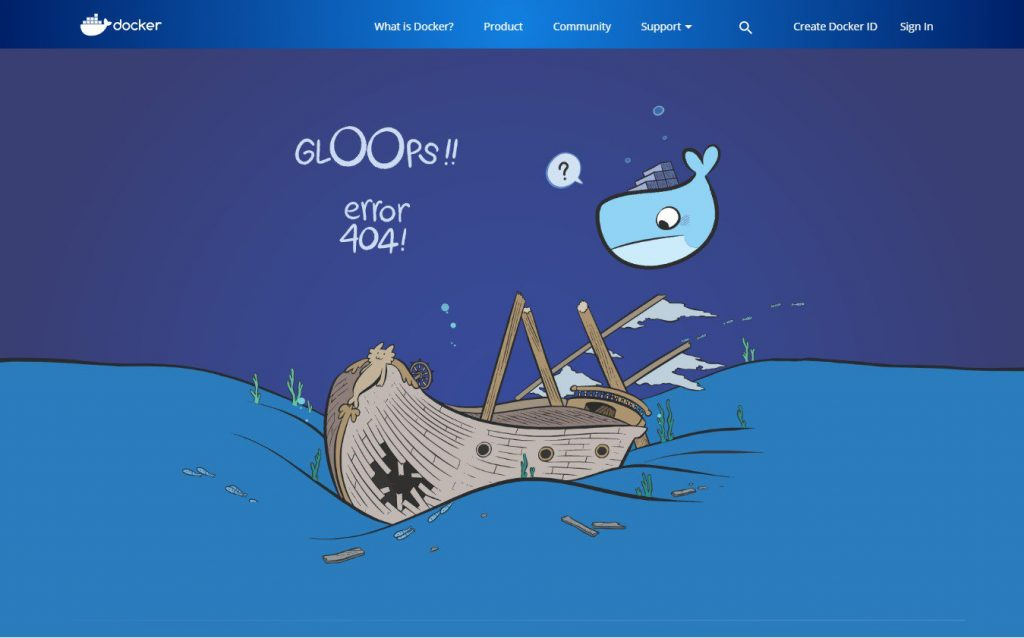 An example of creative 404 page