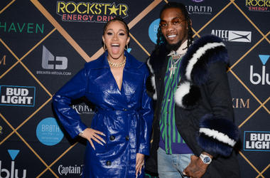 Cardi B and Offset of Migos walking on the red carpet at the The 2018 MAXIM Party held at Schaffer-Richardson Building on February 3, 2018 in Minneapolis, Minnesota.