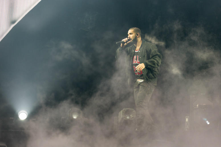 Drake during the Summer Sixteen tour at United Center on October 5, 2016, in Chicago, Illinois