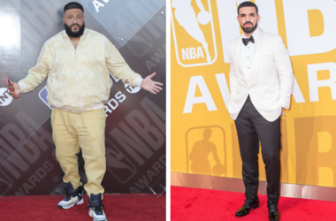25 June 2018 - Santa Monica, California - DJ Khaled, Khaled Mohamed Khaled, Nicole Tuck. 2018 NBA Awards held at Barker Hangar. / Drake attends the 2017 NBA Awards at Basketball City - Pier 36 - South Street on June 26, 2017 in New York City.