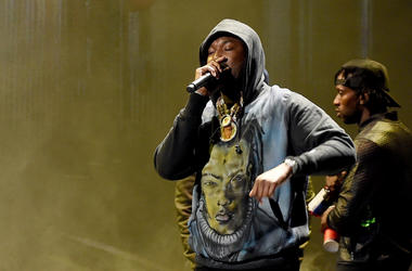 LOS ANGELES - JUNE 24: Meek Mill performs on the 2018 BET Awards at the Microsoft Theater on June 24, 2018 in Los Angeles, California.