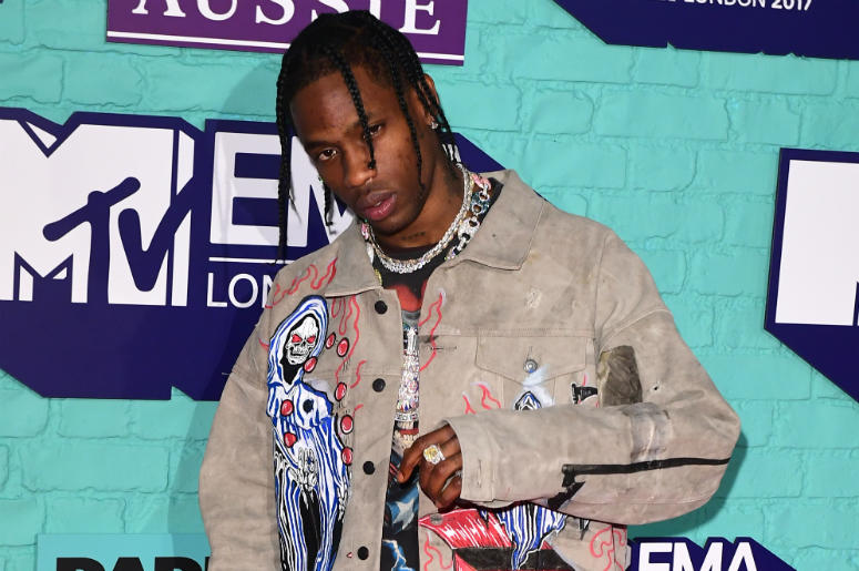11/12/2017 - Travis Scott attending the MTV Europe Music Awards 2017 held at The SSE Arena, London.