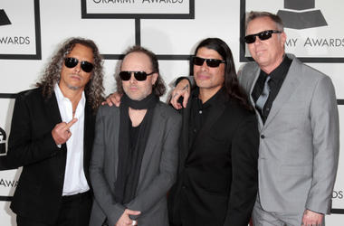 Metallica arrives at the 56th Grammy Awards held at the Staples Center on January 26, 2014