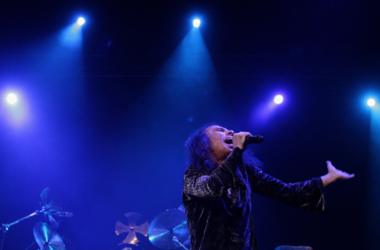 2007, Ronnie James Dio performs on stage with Heaven and Hell