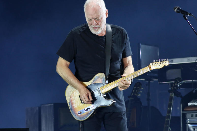 David Gilmour performs in concert at Madison Square Garden